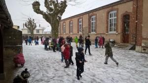 Ecole Jeanne d'arc Sully jour de neige 2