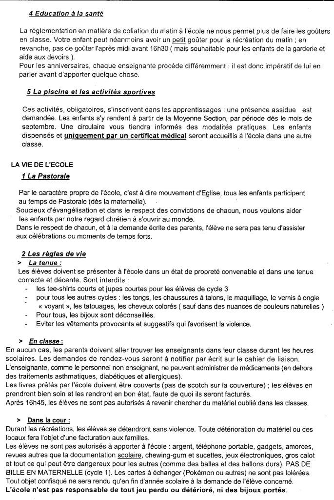 Règlement 2 intérieur école Jeanne d'arc